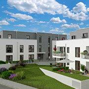 Das Bild zeigt einen Neubau in Nürnberg-Stein.