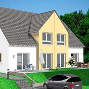 Das Bild zeigt einen Neubau in Burgthann.