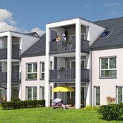 Das Bild zeigt einen Neubau in Erlangen.