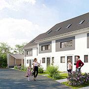 Das Bild zeigt einen Neubau in Nürnberg-Laufamholz.