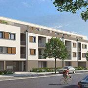 Das Bild zeigt einen Neubau in Herzogenaurach.